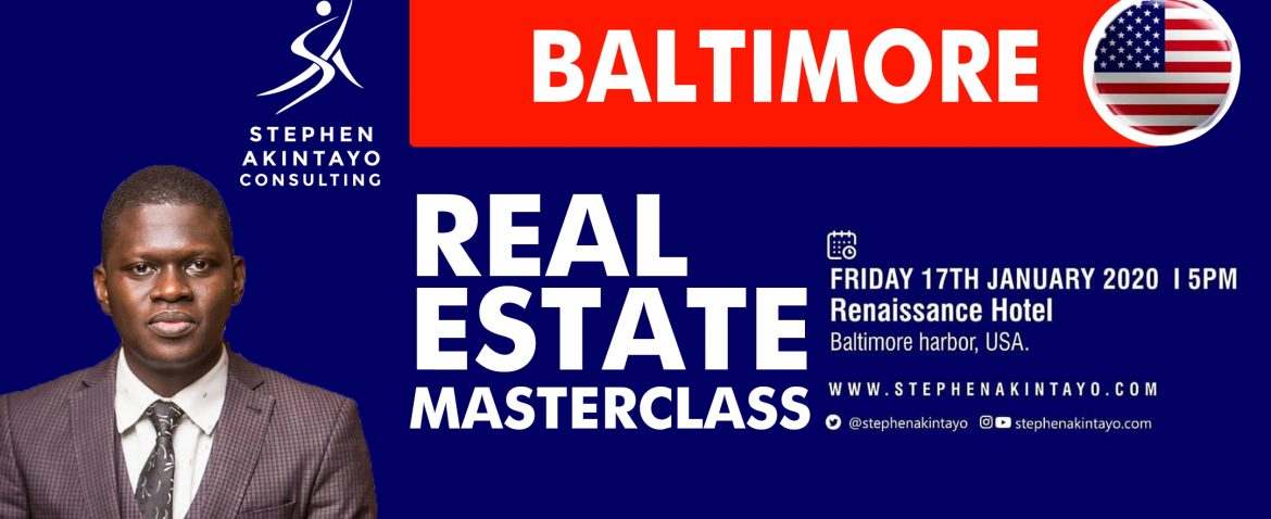 Real estate masterclass at Baltimore