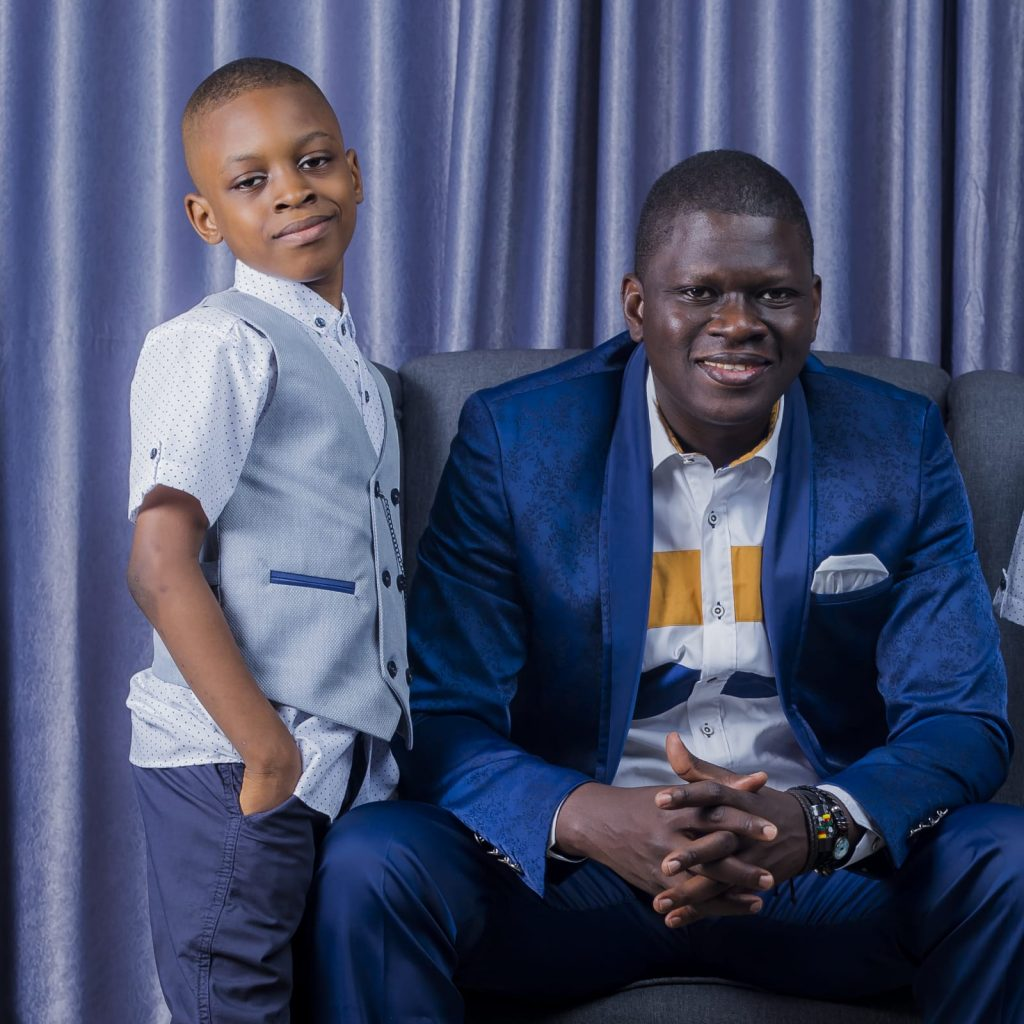 stephen akintayo and his son, Divine